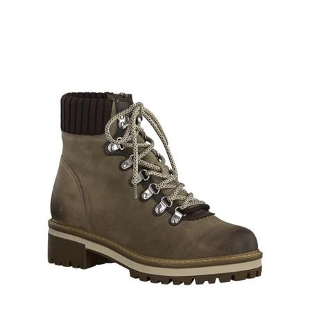 Tamaris  Farisa Leather Hiker Boot - Beige