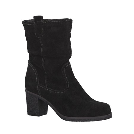 Tamaris  Resiea Slouch Calf Length Suede Boot - Black