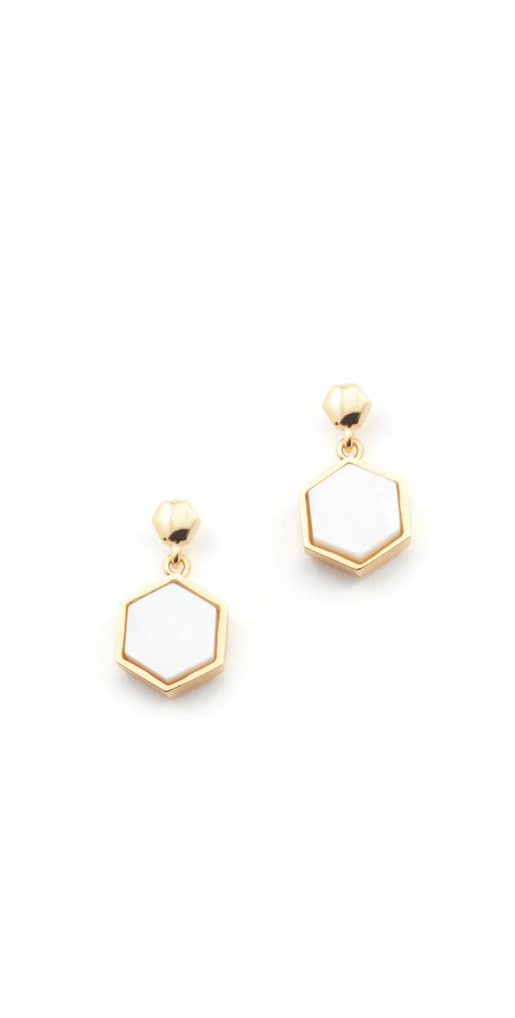 Hexagon Stud Earrings main image