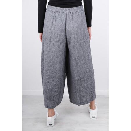 Grizas Niki Wide Leg Wool Trouser  - Blue
