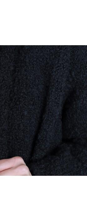 Grizas Bea Drape Longline Coatigan 17 Black