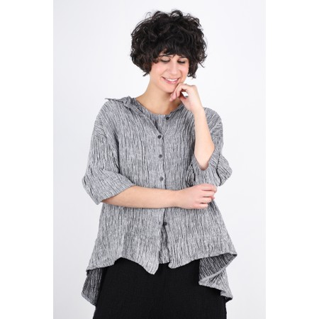Grizas Urte Crinkle Linen Shirt - Grey