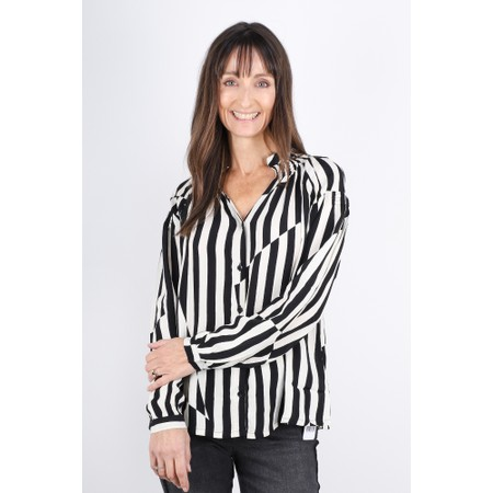 Masai Clothing Ibilis Stripe Blouse - Black