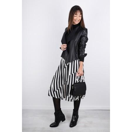 Masai Clothing Sondra Stripe Skirt - Black
