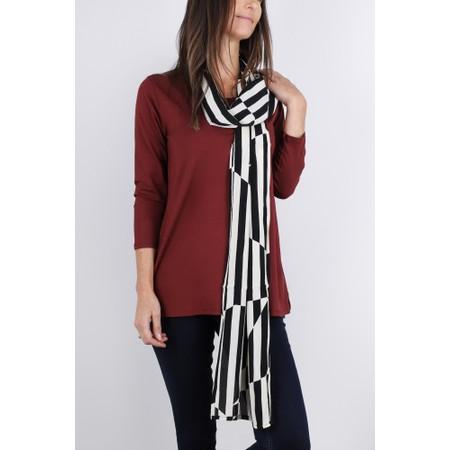 Masai Clothing Along Stripe Scarf - Black