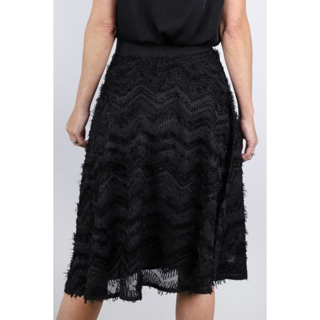 Masai Clothing Sultana Feather Detail Skirt - Black