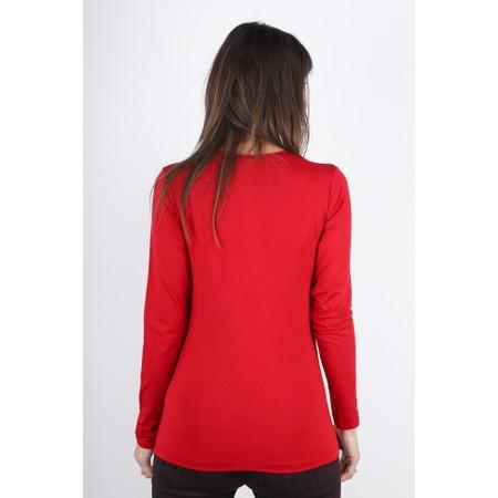 Masai Clothing Cream Basic Top - Red