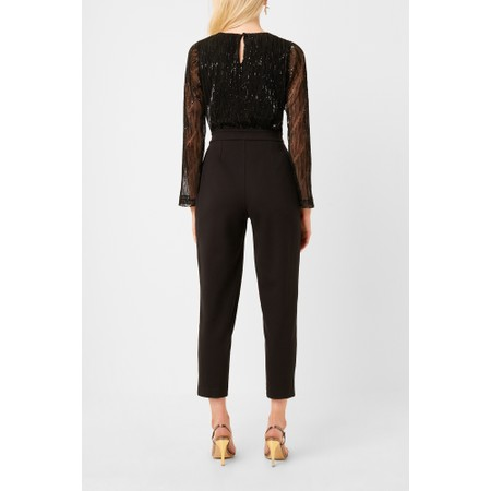French Connection Rubina Jersey Embellished Jumpsuit - Black