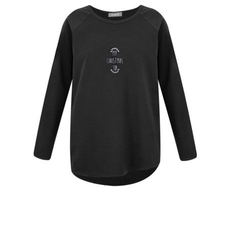 Chalk Tasha My Christmas Top - Black
