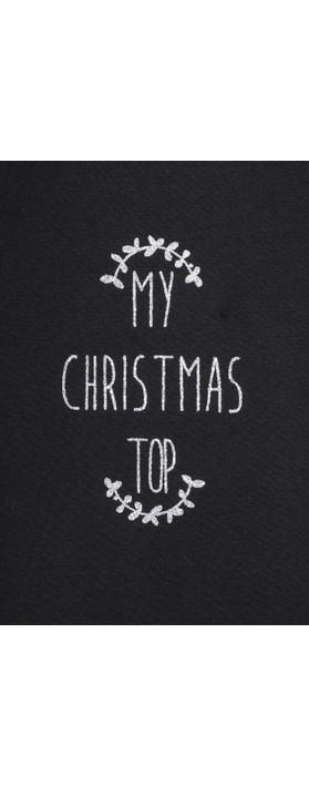 Chalk Tasha My Christmas Top Black / Silver