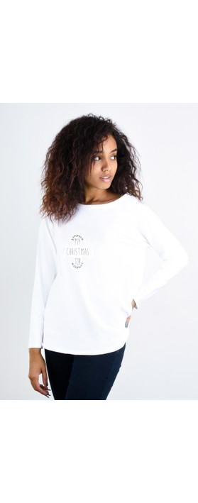 Chalk Tasha My Christmas Top White / Charcoal