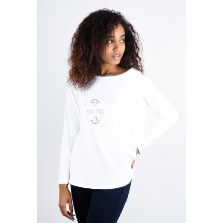 Chalk Tasha My Christmas Top - White