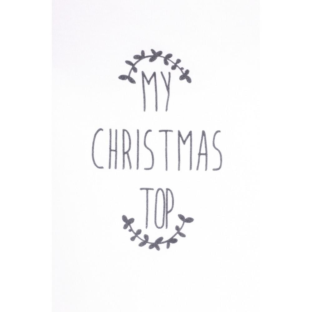 Chalk Tasha My Christmas Top White / Charcoal