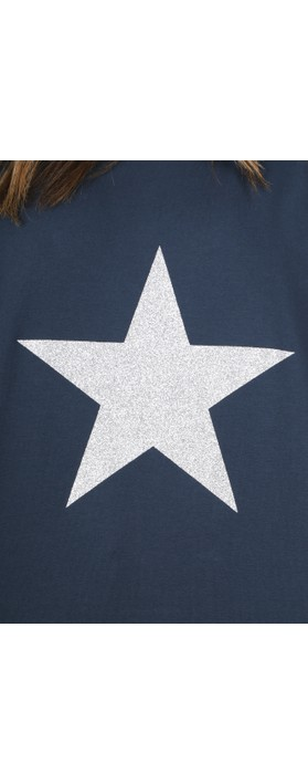 Chalk Tasha Star Top Navy / Silver