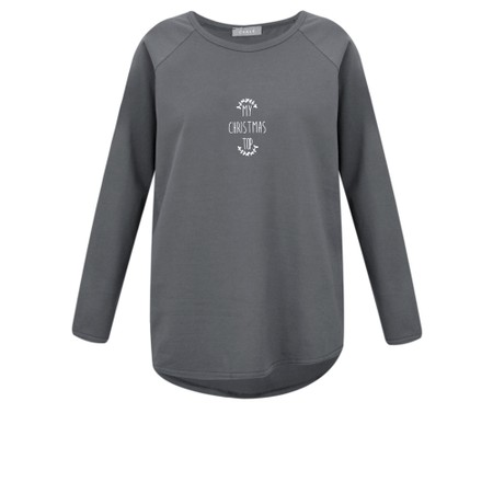 Chalk Tasha My Christmas Top - Grey