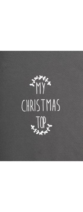 Chalk Tasha My Christmas Top Charcoal / White