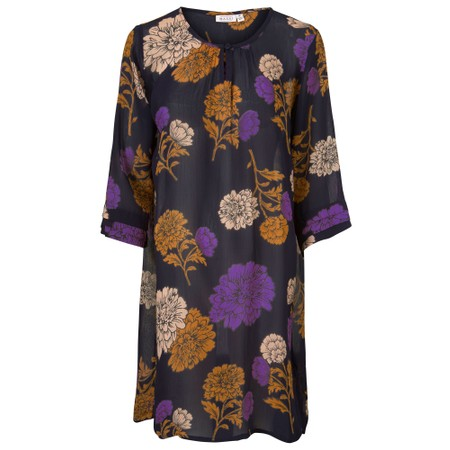 Masai Clothing Grith Floral Tunic - Purple