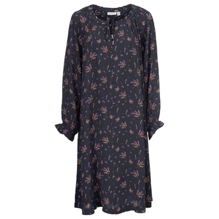 Masai Clothing Noga  Spot and Floral Dress - Purple