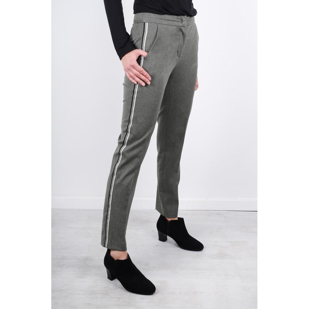 Robell Smart Side Stripe Full Length Trouser Grey