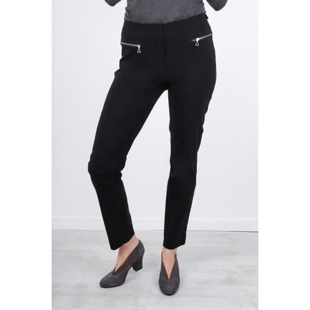 Robell  Mimi 75cm Zip Pocket Trouser - Black