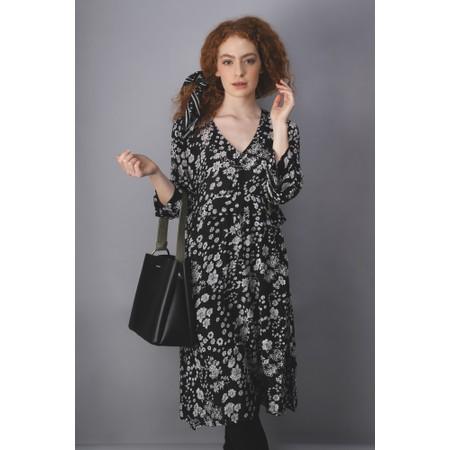 Masai Clothing Nora Floral Dress - Black