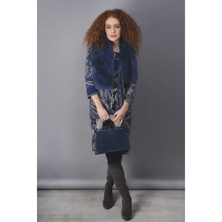Inyati Olivia Croco Top Handle Bag - Blue