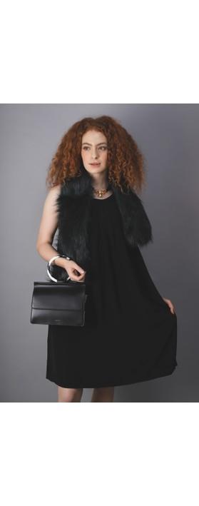 Inyati  Coco Faux Leather Loop Handle Crossbody Bag Black