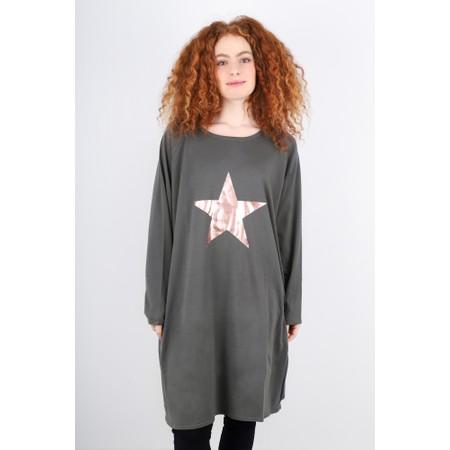 Chalk Brody Star Dress - Grey