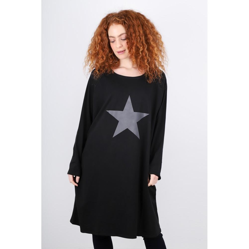 Chalk Brody Star Dress Black/Dark Grey