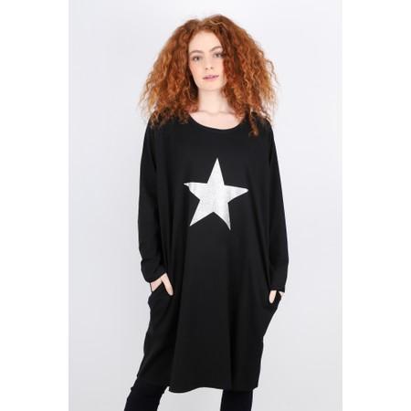 Chalk Brody Star Dress - Black