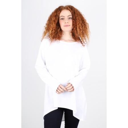 Chalk Robyn Plain Jersey Top - White