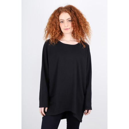 Chalk Robyn Plain Jersey Top - Black