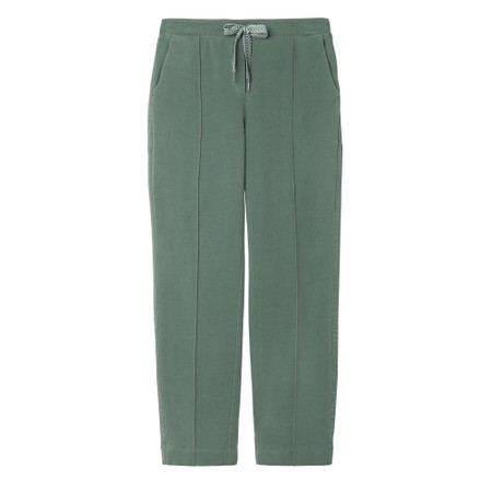 Sandwich Clothing High Waisted Jersey Trousers - Green