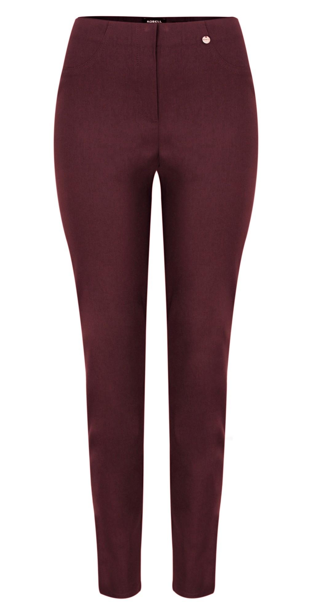 Bella Aubergine 78cm Slim Fit Full Length Trouser main image