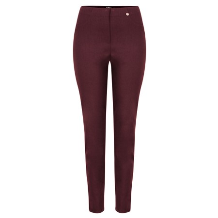 Robell  Bella 78cm Slim Fit Full Length Trouser - Purple