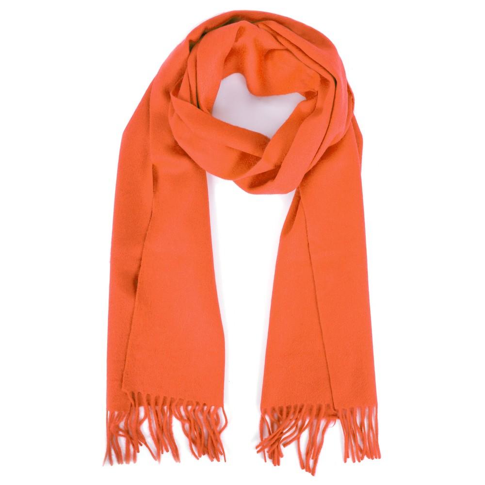 Gemini Label  Finola Pure Cashmere Scarf Orange