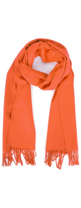Gemini Label  Finola Pure Cashmere Scarf Orange