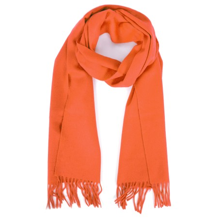 Gemini Label  Finola Pure Cashmere Scarf - Orange