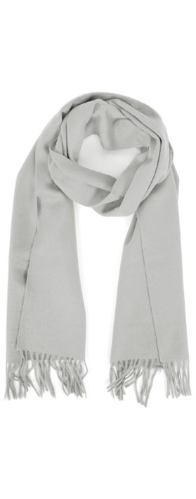 Gemini Label Accessories Finola Pure Cashmere Scarf Silver Grey