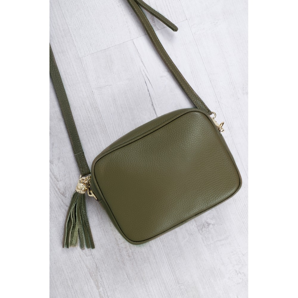 Gemini Label Bags Connie Cross Body Bag Olive Green