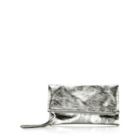 Gemini Label  Silvi Clutch Bag - Metallic