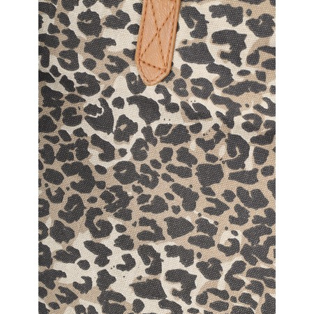 Gemini Label  Allie Canvas Shopping Bag - Beige