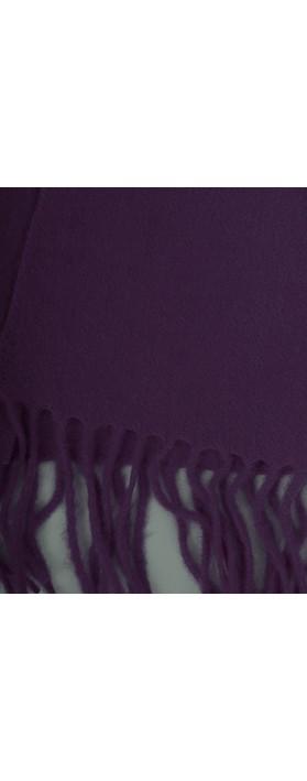 Gemini Label Accessories Finola Pure Cashmere Scarf Purple