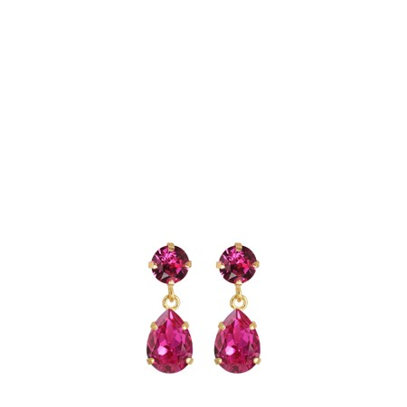 Caroline Svedbom Mini Drop Earring - Pink
