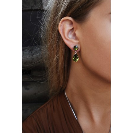 Caroline Svedbom Mini Drop Earring - Green
