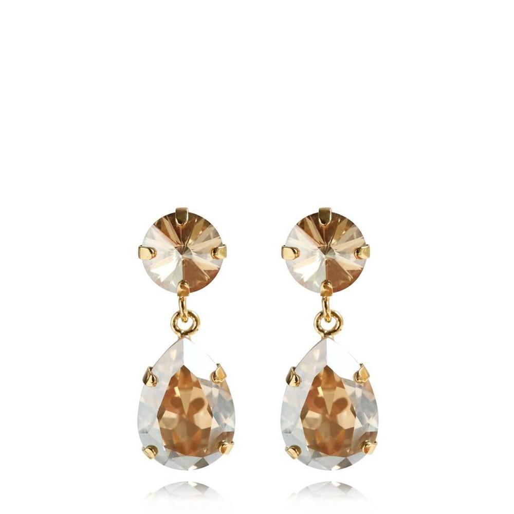 Caroline Svedbom Mini Drop Earring Golden Shadow / Gold