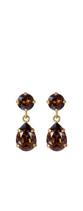 Caroline Svedbom Mini Drop Earring Smoked Topaz / Gold