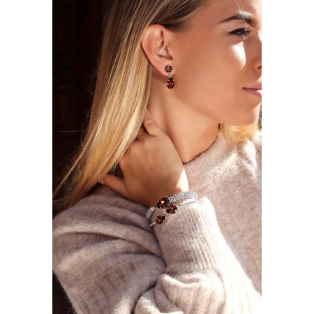 Caroline Svedbom Mini Drop Earring - Brown
