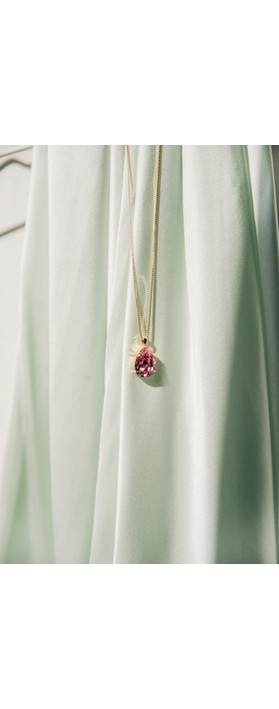 Caroline Svedbom Mini Drop Necklace  Fuchsia / Gold