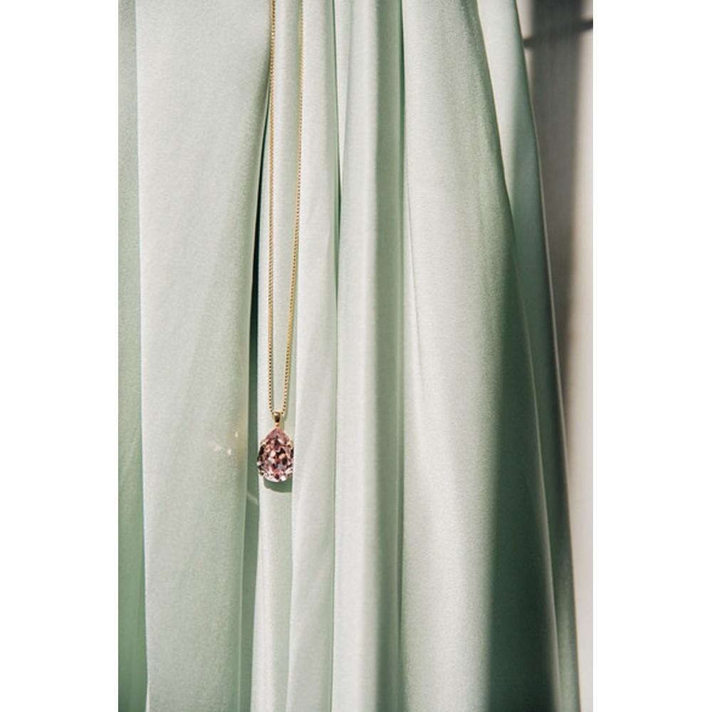 Caroline Svedbom Mini Drop Necklace  Vintage Rose / Gold